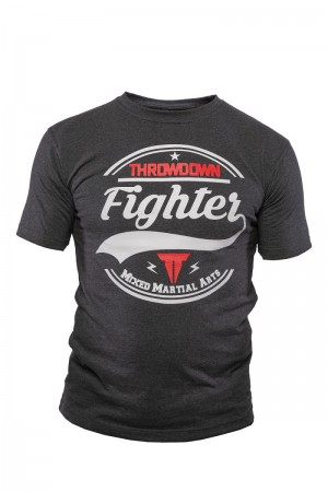 Throwdown® T-Shirt MMA Fighter Charcoal