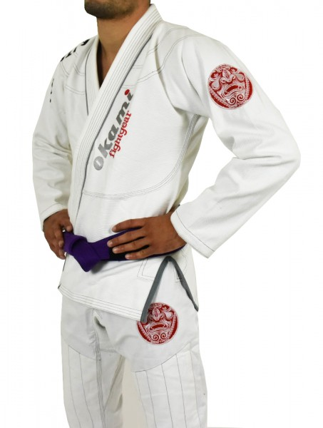 SALE OKAMI fightgear BJJ Gi Ronin white Limited Edition